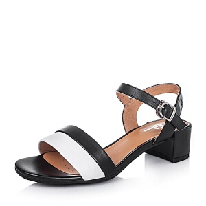 Bata/拔佳夏季小牛皮女凉鞋AI802BL6