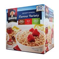 美国进口桂格早餐麦片Quaker速溶水果麦片燕麦片冲饮即食 枫糖 苹果肉桂 肉桂香料三种口味52包