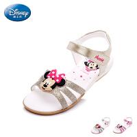迪士尼童鞋女童凉鞋2017夏季新款小童米妮露趾学生鞋儿童休闲凉鞋 DS1991