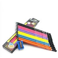 MARCO马可9008黑木三角杆铅笔 HB 学生铅笔 内赠卷笔刀  三角杆铅笔 马克铅笔正姿铅笔无毒