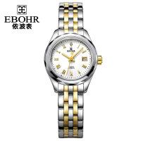 依波表(EBOHR)都市经典系列休闲大气钨钢表圈间金色自动机械女表女士手表30060326