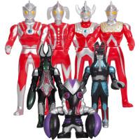 咸蛋超人 奥特曼玩具 儿童超人战士对战怪兽套装玩具 奥特曼+黑怪兽套装2059款式*