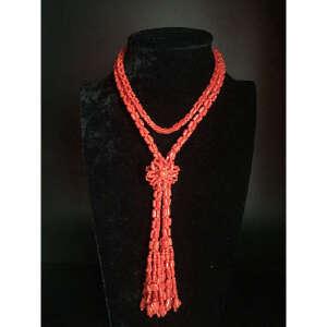 现代 珊瑚毛衣链