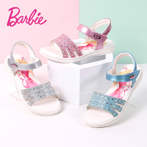 芭比童鞋 女童凉鞋2017夏季新款28-37码儿童凉鞋靓丽时尚公主鞋