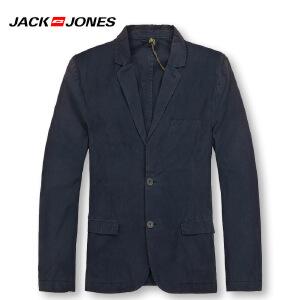 杰克琼斯春秋男士商务纯色修身百搭西服 25-5-2-213108022030
