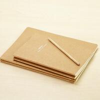 联华 记事本 环保 简约 复古 空白 笔记本 牛皮纸 本子