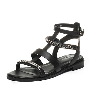 BATA/拔佳夏季专柜同款牛皮罗马风女凉鞋58A-2BL6