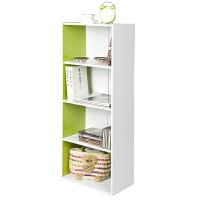 [当当自营]慧乐家 书柜书架 L40四层储物收纳柜 自由组合柜子 绿色/白色 12055-1