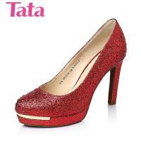 Tata/他她春季专柜同款亮片布浅口女单鞋2HH09AQ6