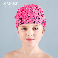 2016新款儿童针织泳帽可爱卡通男女童不勒头时尚防晒度假布游泳帽.