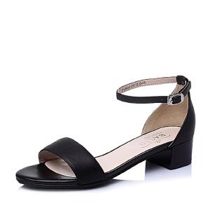 BASTO/百思图夏季专柜同款小牛皮女凉鞋TVB04BL6