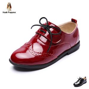 暇步士童鞋2017年春秋新款女童皮鞋中大童系带演出真皮鞋 DP9089