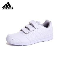 adidas/阿迪达斯2016秋新款小中童鞋小白鞋透气轻便运动休闲鞋 AQ3728