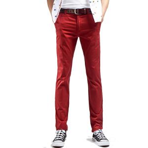 1号牛仔 新款男士休闲裤透气修身裤韩版棉直筒小直角裤
