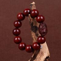 缘饰传说 小叶紫檀佛珠18mm手串精雕貔貅高密顺纹油润男女款把玩件木质手链