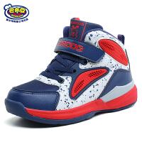 巴布豆童鞋 男童鞋2016冬季新款二棉鞋男童运动鞋防滑学生篮球鞋