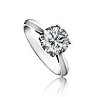梦克拉  结婚钻戒白18K金结婚戒指依恋32分 创意礼品