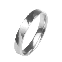 梦克拉 PT990铂金小清新刻面闪耀戒指女款 白金简约指环铂金戒指 印刻 结婚铂金饰品