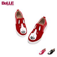 Belle/百丽童鞋2016秋冬女童休闲鞋狗狗鞋面卡通女童鞋户外鞋 DE0186