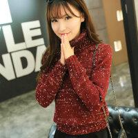 韩国高领毛衣女冬厚短款套头修身针织衫长袖女士高领打底衫秋冬潮