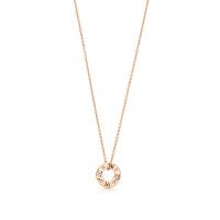 【当当自营】 蒂芙尼(Tiffany & Co.) 圆形镶钻吊坠18K玫瑰金项链 30480554
