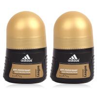 阿迪达斯adidas 男士走珠香水香体止汗露液滚珠50ml 两只装 征服走珠0010
