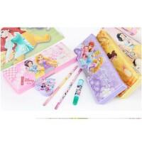 迪士尼公主笔盒 白雪公主儿童卡通文具盒 塑料多功能