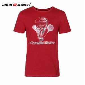 杰克琼斯/JackJones时尚百搭新款T恤 红色热气球-38-5-1-213201079073