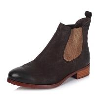BATA/拔佳专柜同款磨砂小牛皮女短靴AJ441CD5