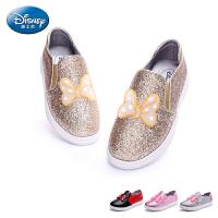 迪士尼童鞋2017春新女童鞋中小童休闲鞋板鞋户外旅游鞋潮鞋春 DS1986