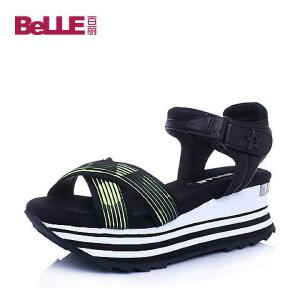 Belle/百丽夏专柜同款织物运动女凉鞋BHEA3BL6