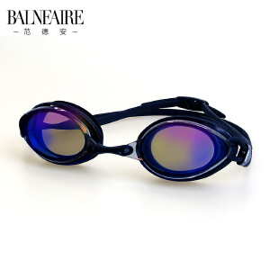 范德安专业高清防水防雾电镀游泳眼镜舒适男女通用成人平光游泳镜