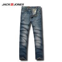 JACK&JONES杰克琼斯牛仔裤男士时尚水洗免烫百搭直筒牛仔裤