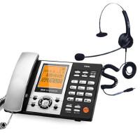 【当当热销】TCL88超级版含耳机数字自动/手动录音插卡电话机办公家用呼叫中心USB及SD卡接口固定座机赠16G卡 舒适净噪麦克风耳麦
