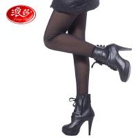 浪莎保暖裤 女士羊胎绒双层假透肉踩脚裤 加厚加绒打底裤