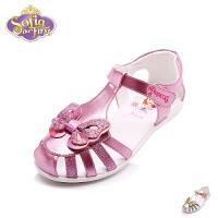 迪士尼女童凉鞋17年夏季新品童鞋小童镂空包头鞋公主鞋儿童皮凉鞋 DF0047