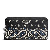 【当当自营】蔻驰(COACH)新款女士印花涂层帆布卡包手拿钱包 F59063