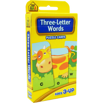 School Zone Flash Cards Three Letter Words