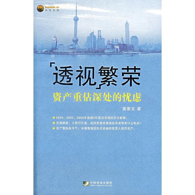 透视繁荣:资产重估深处的忧虑(中国本土领军经济学家的精华著作)
