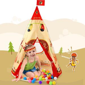 印第安儿童趣味帐篷 幼儿室内游戏屋海洋球池便携式空间 儿童玩具
