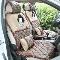 驰航 汽车坐垫冬季新款 蕾丝卡通可爱座垫车坐垫通用 科鲁兹凯越垫
