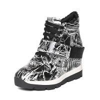 Belle/百丽冬专柜同款幻彩印花牛皮女短靴BMIA1DD6