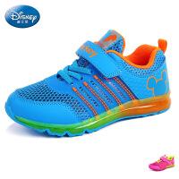 迪士尼2016新款网布透气镂空鞋中大童运动鞋舒适男女宝宝气垫鞋