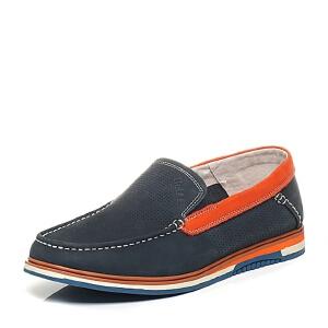 Belle/百丽专柜同款夏季时尚休闲男单鞋4LD02BM6