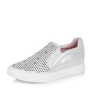 BASTO/百思图专柜同款山羊皮女单鞋TKV39CM6