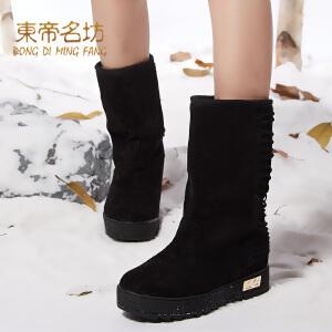 新款英伦马丁靴短靴平底靴单靴粗跟保暖短筒女鞋