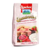 意大利Loacker莱家 红莓优格味粒粒装威化饼干110g 宝宝零食饼干