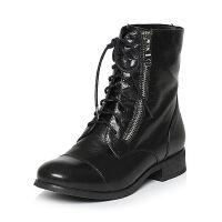 Teenmix/天美意专柜同款黑色羊皮女短靴(绒里)AL69HDD5