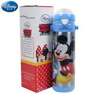 迪士尼儿童保温杯 米奇不锈钢真空宝宝软吸管杯 米奇卡通学饮杯水杯 卡通学生水杯水壶