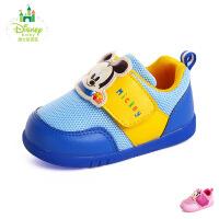 迪士尼2016新秋夏款男女宝宝鞋透气网布鞋米奇学步鞋品牌幼童鞋